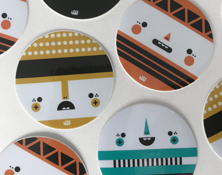 Geometric Face Sticker Set