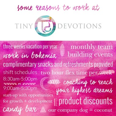 Work At Tiny Devotions