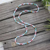 True Love Mala Bead Necklace - Tiny Devotions Gemstone 108 Mala Beads Intentional Jewelry