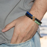 Power Men's Bracelet - Tiny Devotions Gemstone 108 Mala Beads Intentional Jewelry