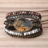 Labradorite Wrap Mala Bracelet - Mala Beads Meditation Accessories and Yoga Jewelryby Tiny Devotions
