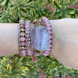 Heart Chakra Wrap Mala Bracelet - Tiny Devotions Gemstone 108 Mala Beads Intentional Jewelry