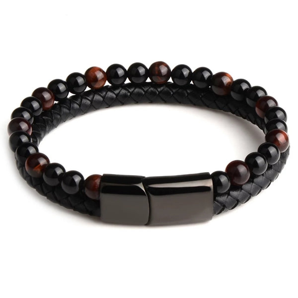 Energy Men's Power Bracelet - Mala Beads Meditation Accessories and Yoga Jewelryby Tiny Devotions