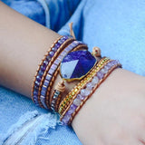 Amethyst Wrap Bracelet - Tiny Devotions Gemstone 108 Mala Beads Intentional Jewelry