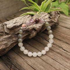 Unveil Truth Mala Bead Bracelet - Tiny Devotions Gemstone 108 Mala Beads Intentional Jewelry