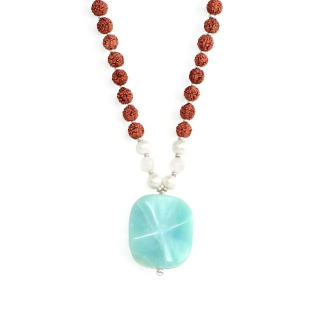 Amazonite Mala by Tiny Devotions