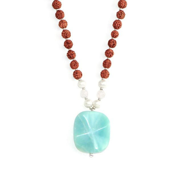Amazonite Mala - Tiny Devotions Gemstone 108 Mala Beads Intentional Jewelry