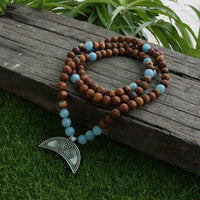 Be Brave Mala Bead Necklace