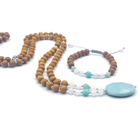 Infinite Possibilities Mala Bracelet - Tiny Devotions Gemstone 108 Mala Beads Intentional Jewelry