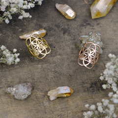 Seed of Life Ring - Rose Gold by Tiny Devotions