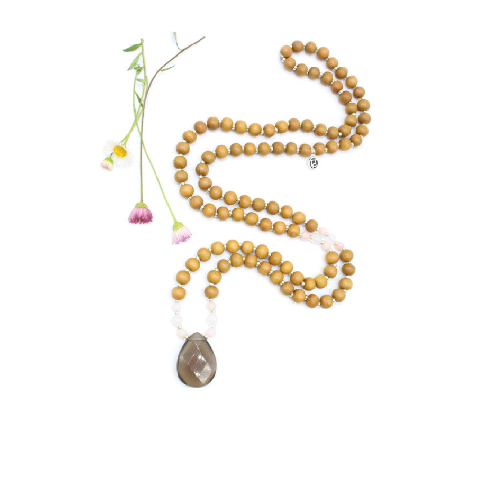 Grounding Mala - Tiny Devotions Gemstone 108 Mala Beads Intentional Jewelry