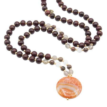 Guardian Mala - Tiny Devotions Gemstone 108 Mala Beads Intentional Jewelry