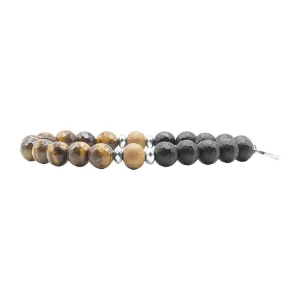 Vision Men's Bracelet - Tiny Devotions Gemstone 108 Mala Beads Intentional Jewelry