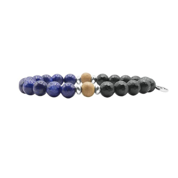 Power Men's Bracelet - Mala Beads Meditation Accessories and Yoga Jewelryby Tiny Devotions