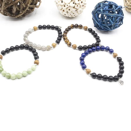 Purpose Men's Bracelet - Tiny Devotions Gemstone 108 Mala Beads Intentional Jewelry