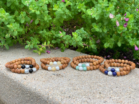 Support Promise Bracelets - Mala Beads Meditation Accessories and Yoga Jewelryby Tiny Devotions