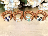 Commitment Promise Bracelets - Mala Beads Meditation Accessories and Yoga Jewelryby Tiny Devotions