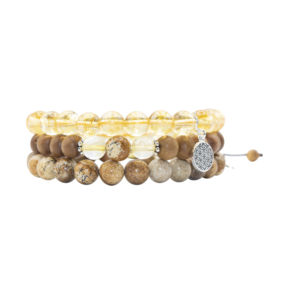 Illumination Stack - Mala Beads Meditation Accessories and Yoga Jewelry by Tiny Devotions