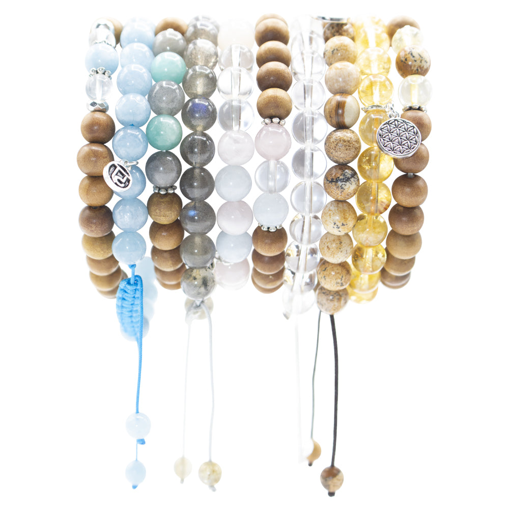 Illumination Stack - Tiny Devotions Gemstone 108 Mala Beads Intentional Jewelry