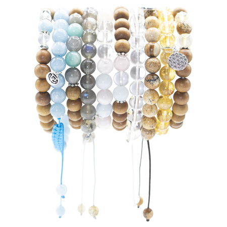 Illumination Stack - Mala Beads Meditation Accessories and Yoga Jewelryby Tiny Devotions
