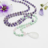 Tranquility Mala - Tiny Devotions Gemstone 108 Mala Beads Intentional Jewelry