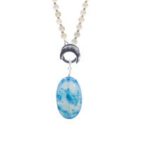 Blue Sardonyx Agate Limitless Amplifier - Silver