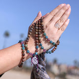 Amethyst Spiritual Mala Bead Bracelet - Tiny Devotions Gemstone 108 Mala Beads Intentional Jewelry