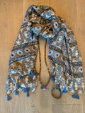Wanderlust Tassel Scarf - Tiny Devotions Gemstone 108 Mala Beads Intentional Jewelry