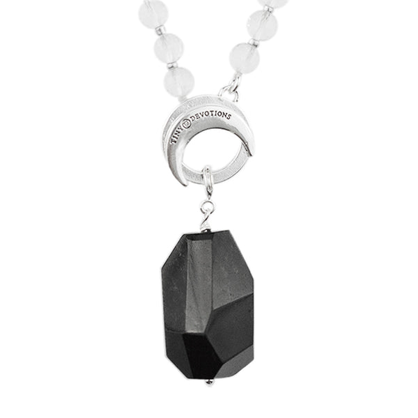 Black Obsidian Karma Amplifier - Silver by Tiny Devotions