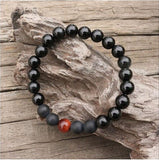 Black Onyx Healing Mala Bracelet - Mala Beads Meditation Accessories and Yoga Jewelryby Tiny Devotions