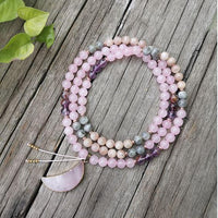 Over The Moon Mala Bead Necklace