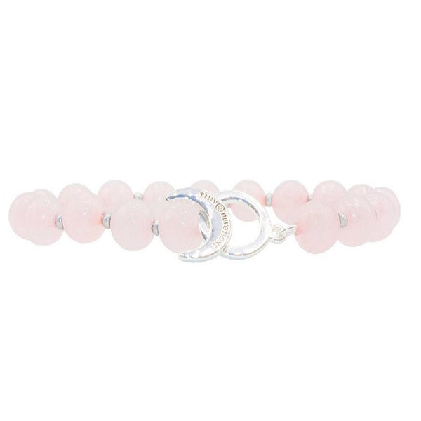 Rose Quartz Limitless Bracelet - Tiny Devotions Gemstone 108 Mala Beads Intentional Jewelry