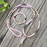 Over The Moon Mala Bead Bracelet - Tiny Devotions Gemstone 108 Mala Beads Intentional Jewelry