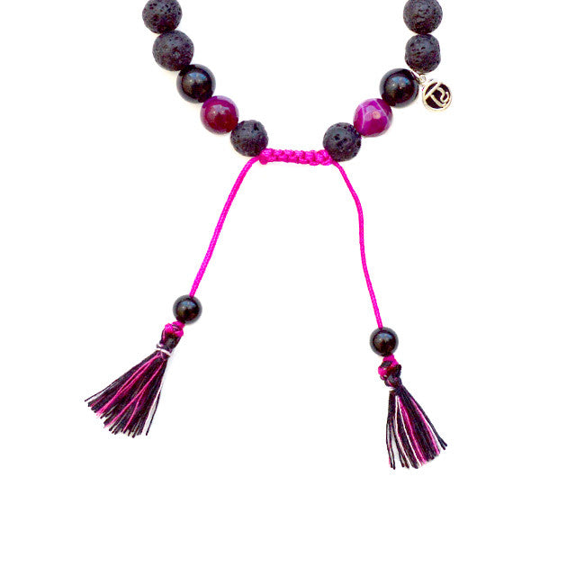 Strength Diffuser Bracelet - Mala Beads Meditation Accessories and Yoga Jewelry by Tiny Devotions