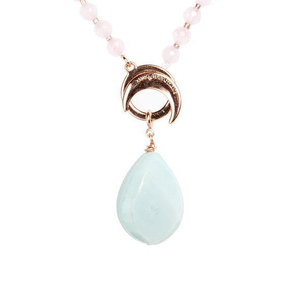 Amazonite Teardrop Amplifier - Mala Beads Meditation Accessories and Yoga Jewelryby Tiny Devotions