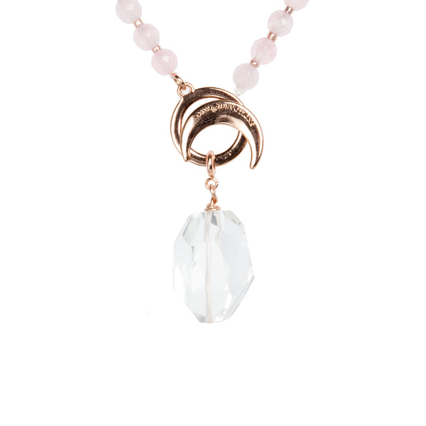 Clear Quartz Energy Amplifier - Rose Gold