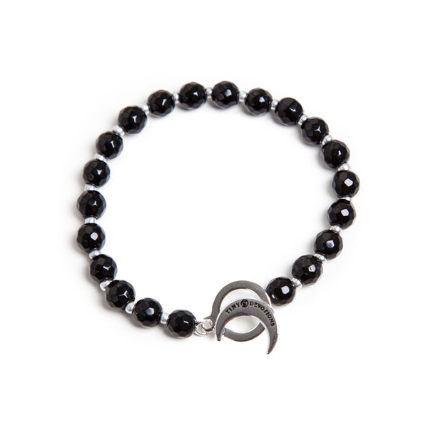 Black Onyx Limitless Bracelet by Tiny Devotions