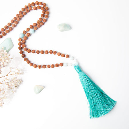 Peace + Calm Mala - Mala Beads Meditation Accessories and Yoga Jewelryby Tiny Devotions