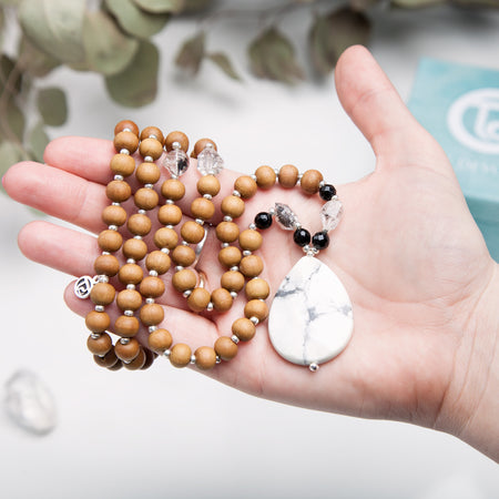 Herkimer Diamond Mala - Mala Beads Meditation Accessories and Yoga Jewelryby Tiny Devotions