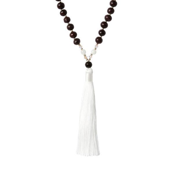 Moonstone Mala - Tiny Devotions Gemstone 108 Mala Beads Intentional Jewelry