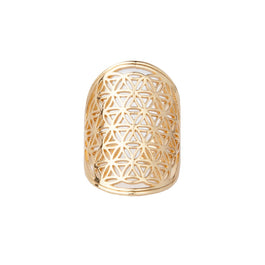 Flower of Life Ring - Gold