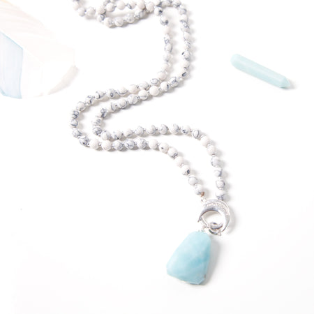Amazonite Tranquility Amplifier - Tiny Devotions Gemstone 108 Mala Beads Intentional Jewelry