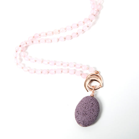 Lava Stone Ambition Amplifier - Rose Gold - Mala Beads Meditation Accessories and Yoga Jewelryby Tiny Devotions