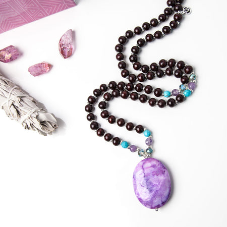 Mermaid at Heart Mala - Tiny Devotions Gemstone 108 Mala Beads Intentional Jewelry