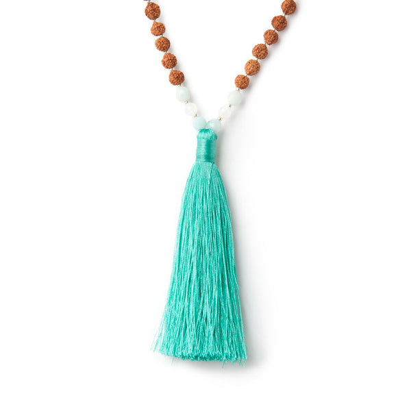 Peace + Calm Mala - Tiny Devotions Gemstone 108 Mala Beads Intentional Jewelry
