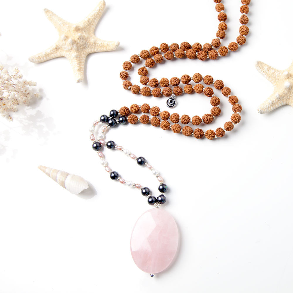 Daughter of the Moon Mala - Tiny Devotions Gemstone 108 Mala Beads Intentional Jewelry