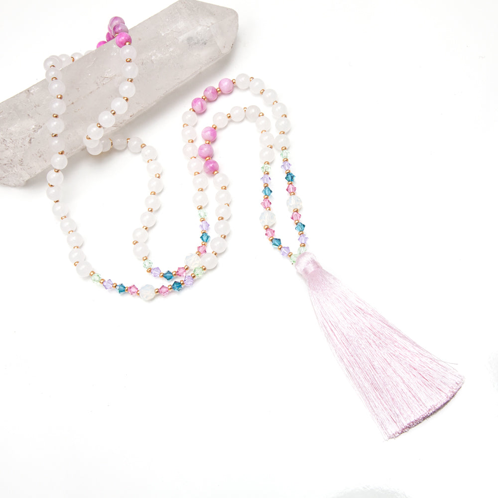 Celestial Unicorn Tassel Mala - Mala Beads Meditation Accessories and Yoga Jewelry by Tiny Devotions