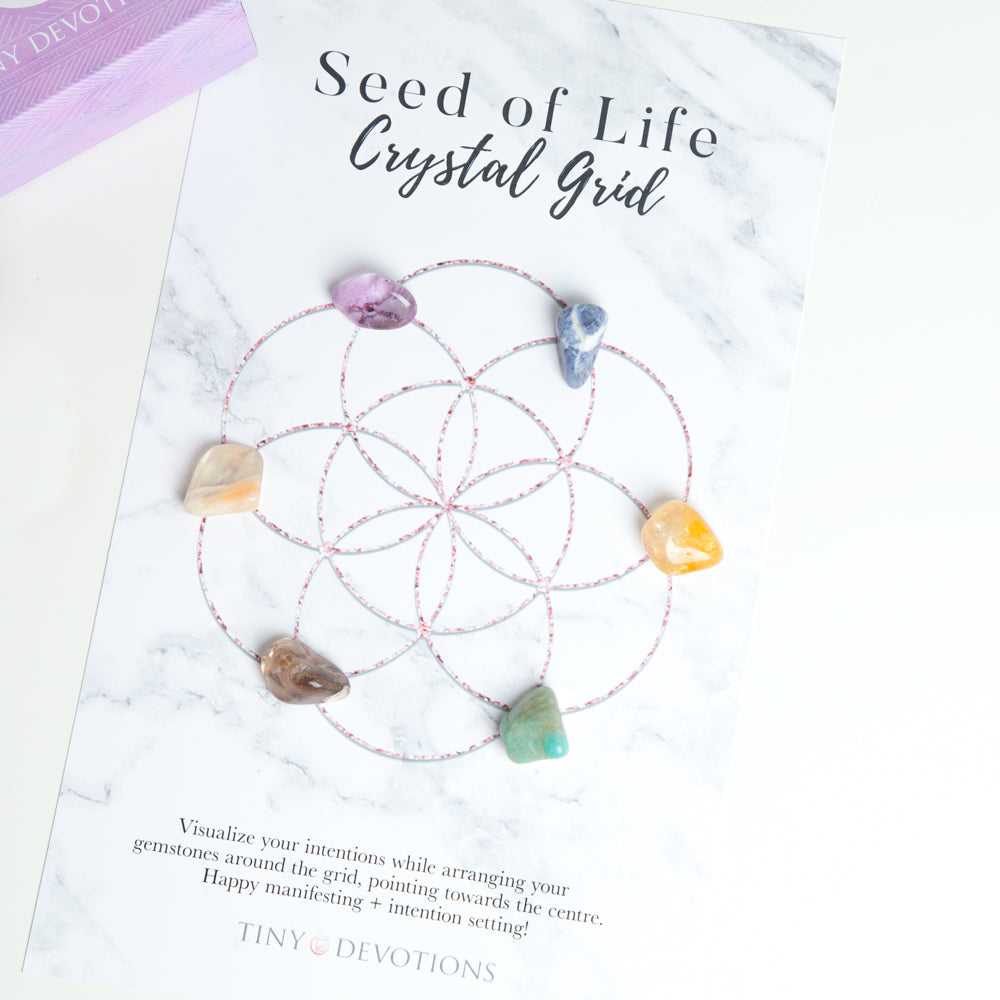Seed of Life Crystal Grid by Tiny Devotions