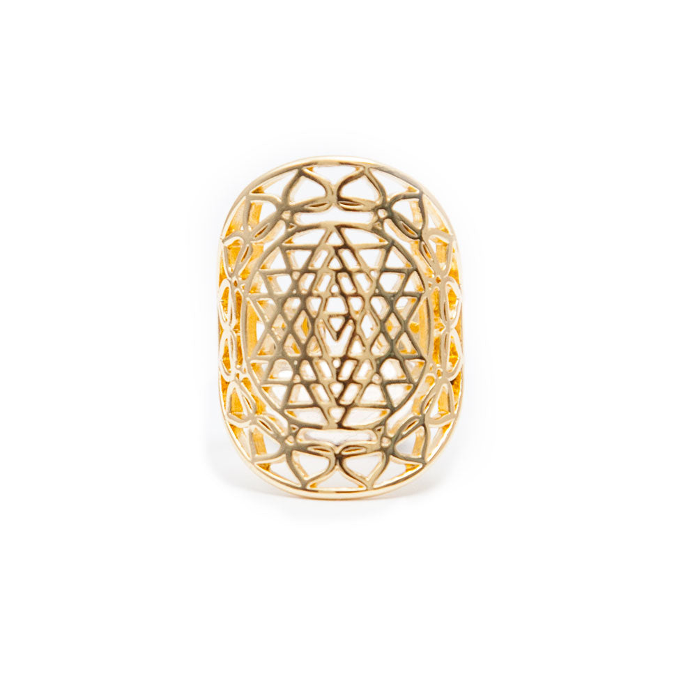 Sri Yantra Ring by Tiny Devotions