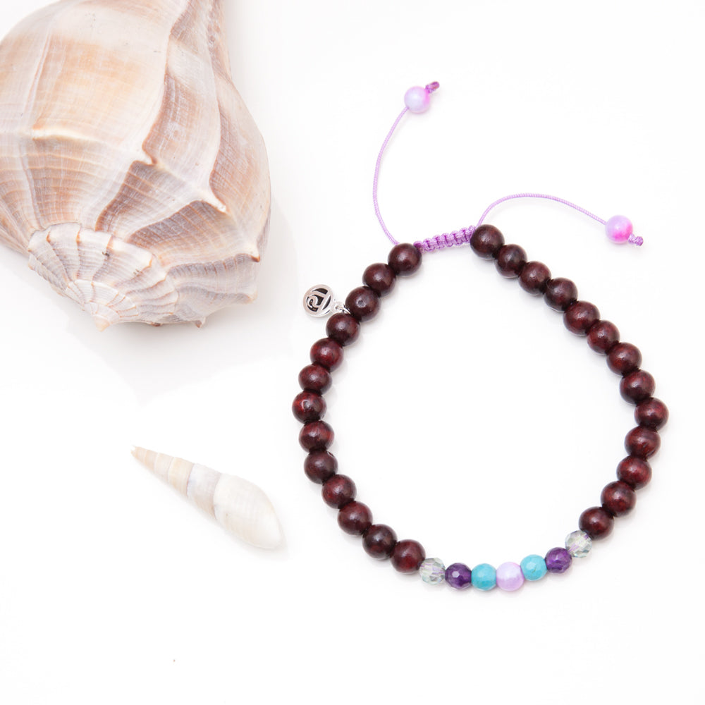 Bliss Mala Anklet - Tiny Devotions Gemstone 108 Mala Beads Intentional Jewelry